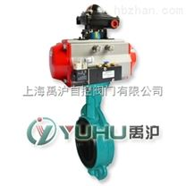 上海禹滬公司生產的D641J氣動襯膠蝶閥