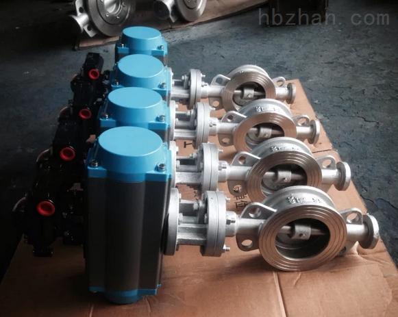 DN150 PN25不锈钢气动对夹蝶阀D673H-25P