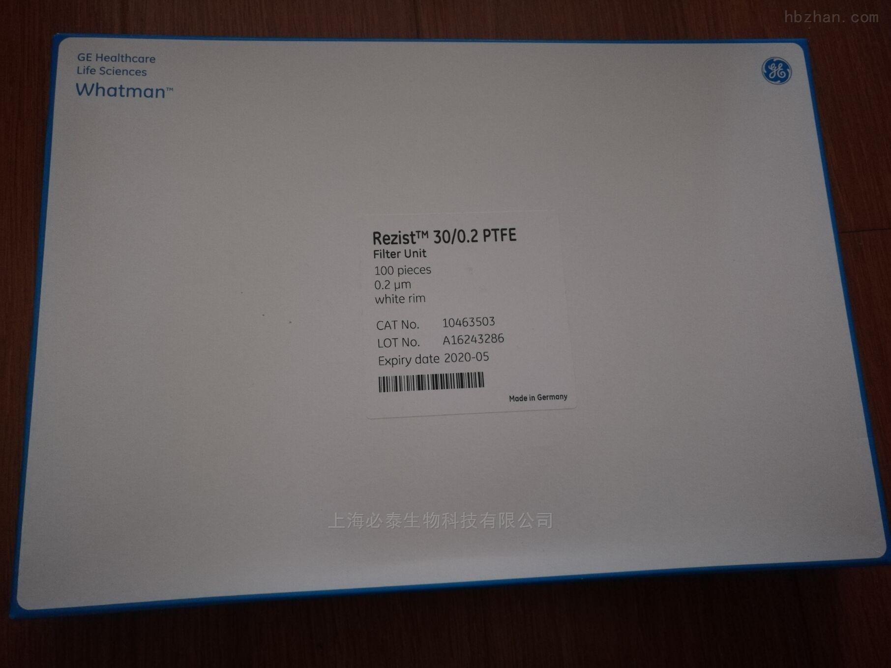 whatman30/0.2PTFE针头式滤器10463503
