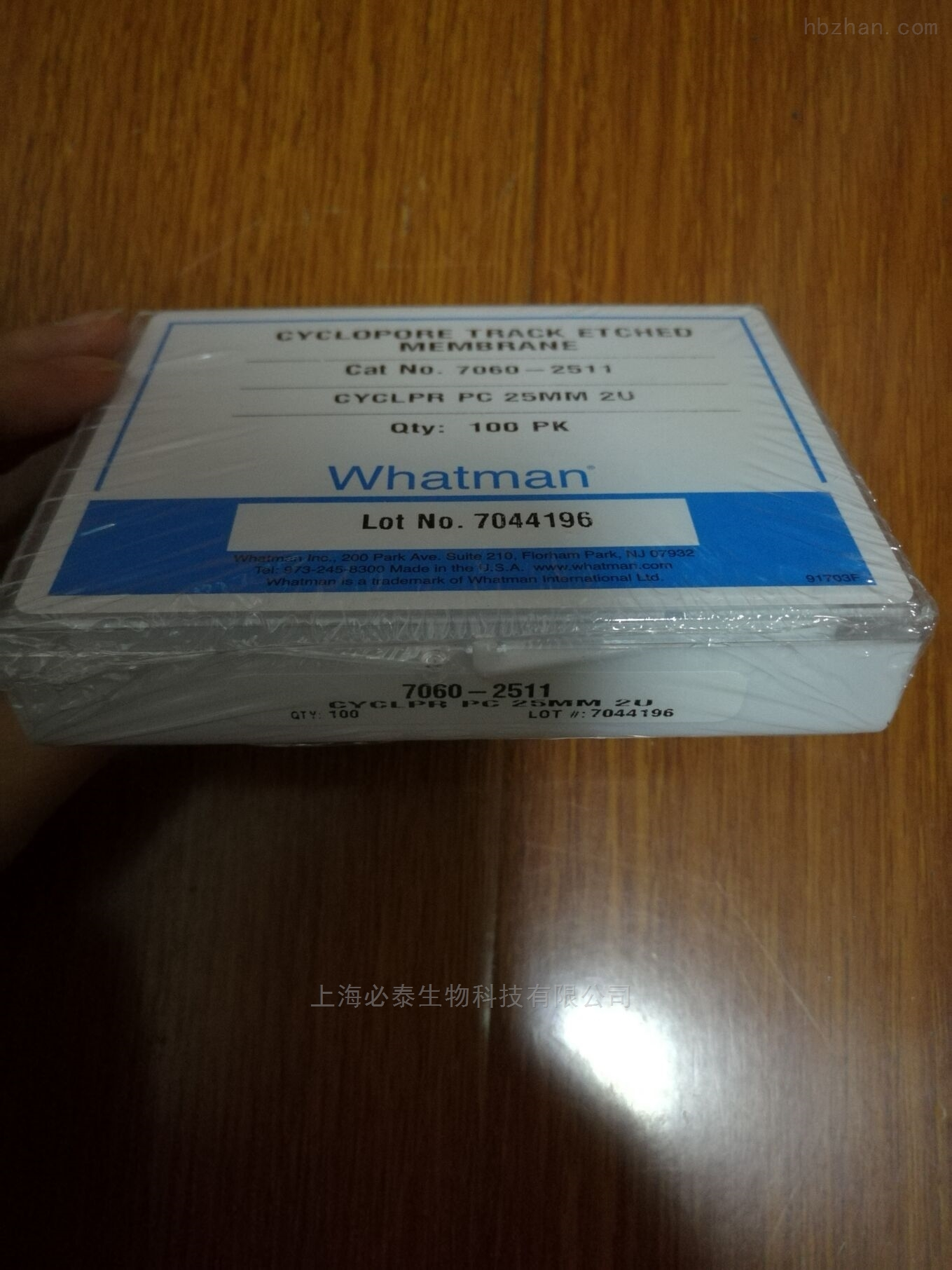 whatman CYCLOPORE聚碳酸酯膜7060-2511