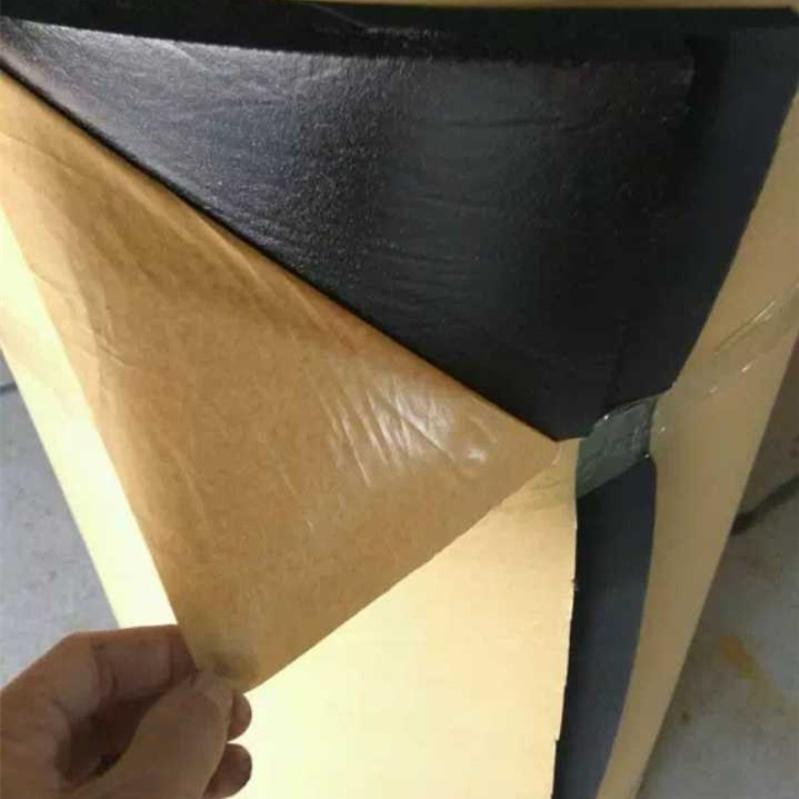 卷板、管背胶橡塑板铝箔橡塑保温棉波峰吸音棉厂家