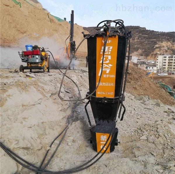红河州元阳县挖掘机改装矿山用岩石劈裂机上千方