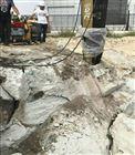 YGF湖北荆门水库挖石头不能放炮用静态裂石机用这个加快进程