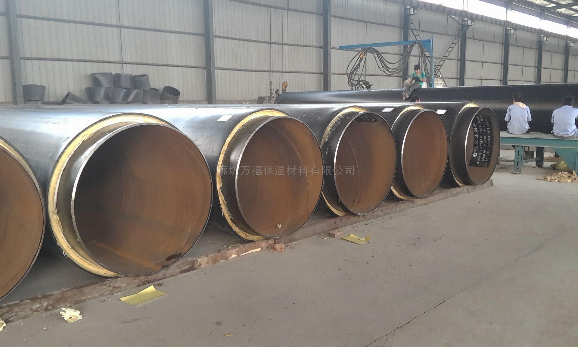 热力钢套钢直埋预制保温管施工