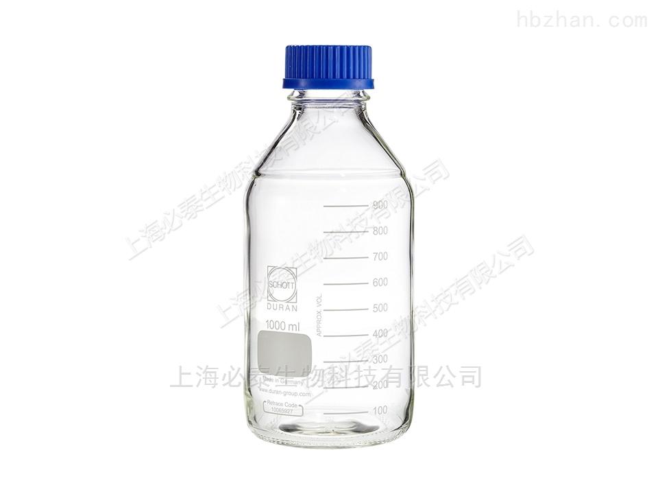 Schott Duran 玻璃蓝盖瓶 100mL,GL45口径