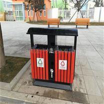 防腐木条垃圾桶 大容量分类环保果皮箱