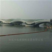 河道拦汛网塑料浮体/拦污排批发订购