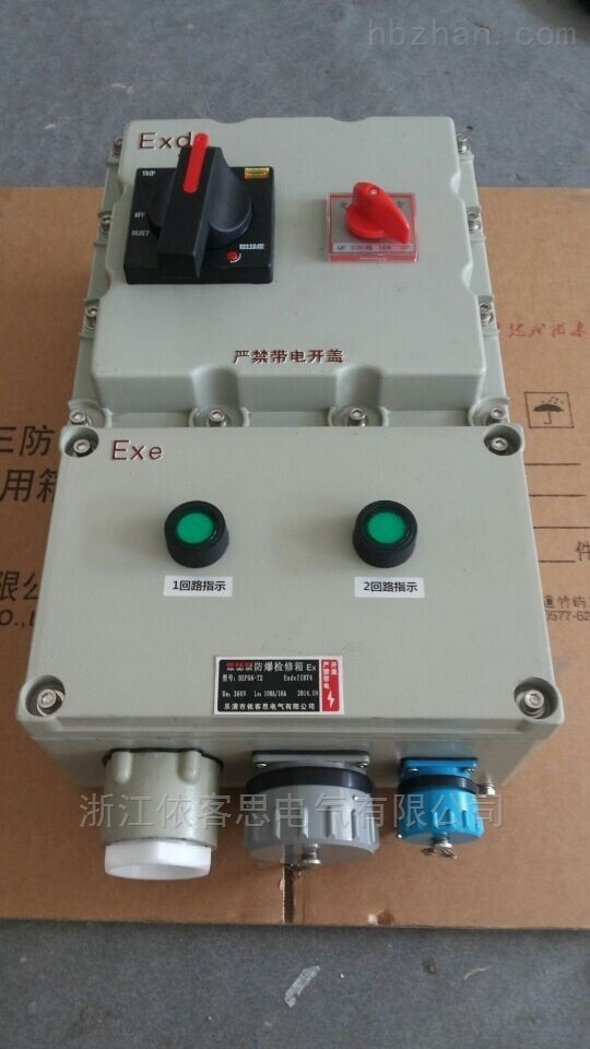 BXX52-2K/63A/380V防爆检修电源插座箱