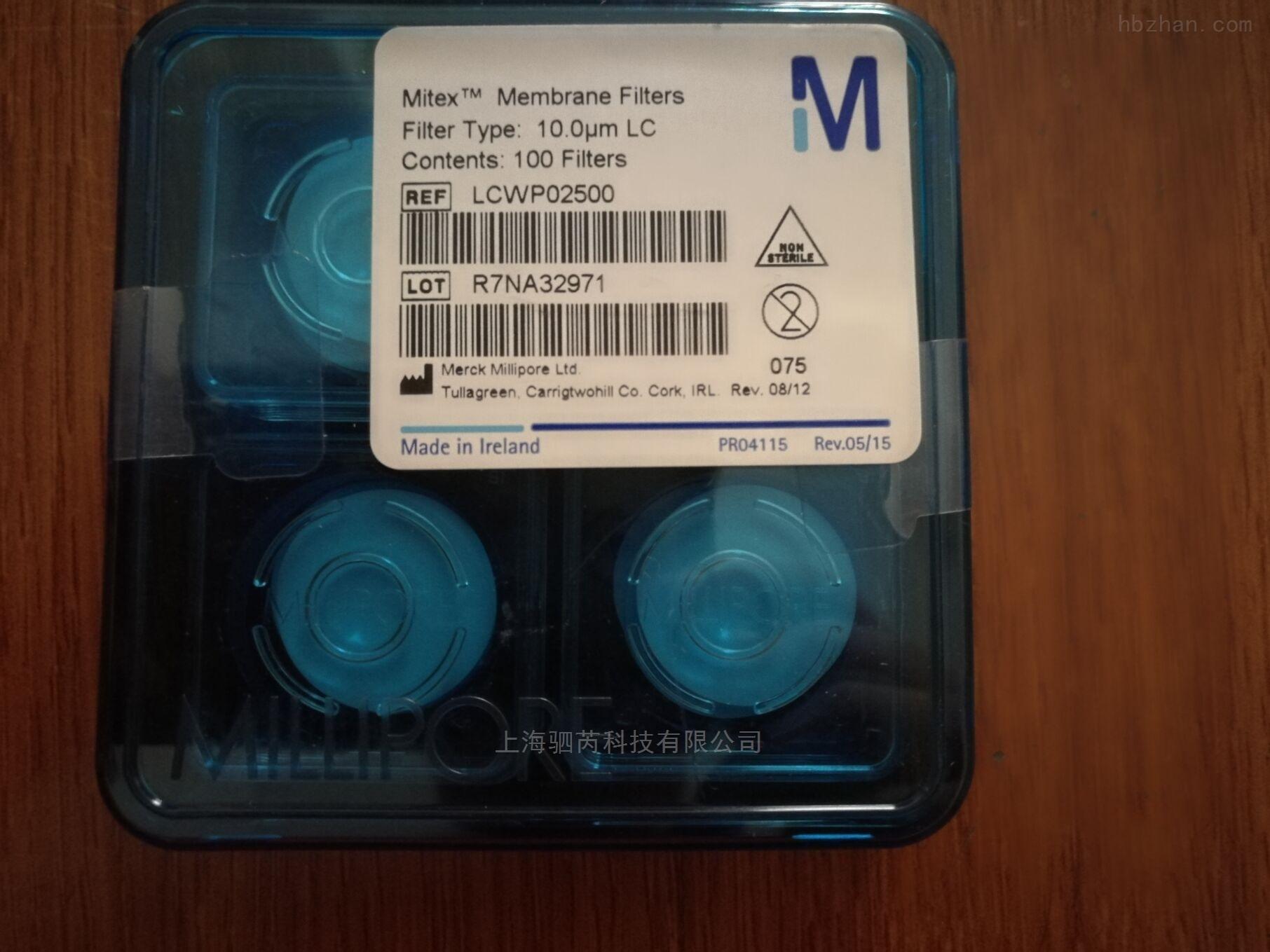 密理博孔径10um PTFE膜LCWP02500