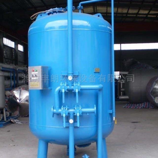 河水处理后冲厕用石英砂过滤罐消毒沉淀