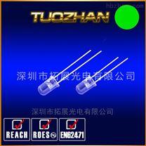 供应高品质10mm白发绿 F10绿灯直插LED