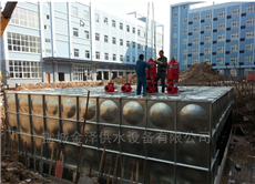 12×10×3=360m3合肥360吨装配式地埋消防水箱造价
