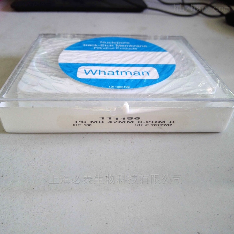 whatman Nuclepore径迹蚀刻膜 黑色 47mm 0.2µm