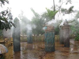 游乐园造雾