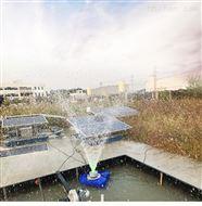 太阳能光伏景观喷泉式水体河道曝气机