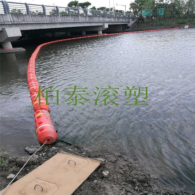 水上垃圾拦截浮筒一体式浮筒