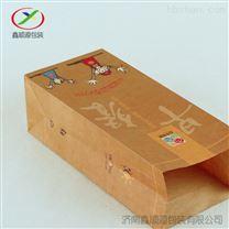上海批发方底食品包装小吃早餐速食牛皮纸袋