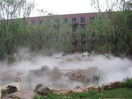 汕尾水景人工湖造雾