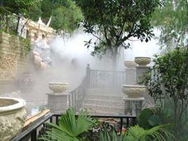 广西玉林园林公园景观造雾