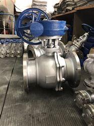 Q347F不锈钢涡轮驱动球阀