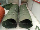 散装机吊环式绿色帆布伸缩布袋