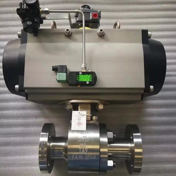 气动钛材质球阀Q641F-160TA2