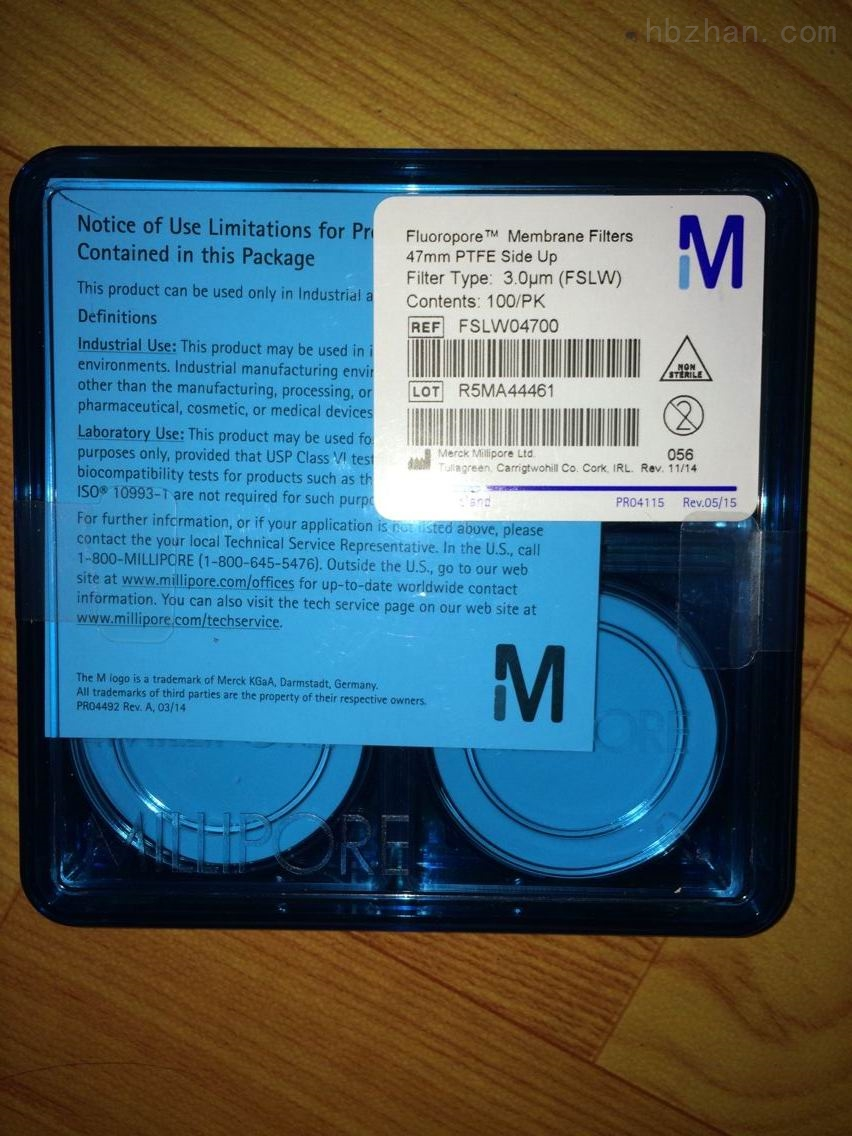 MERCK millipore疏水性PTFE过滤膜3um孔径