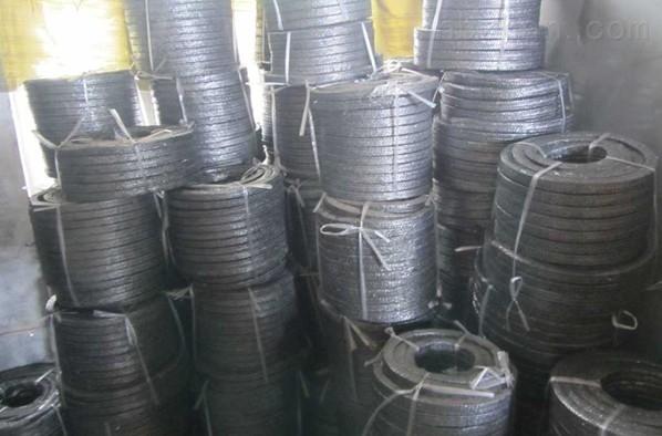 专业生产石墨加铜丝盘根、石墨填料环现货