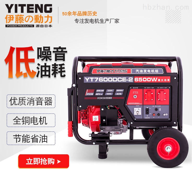 8kw永磁汽油发电机YT8000DCS
