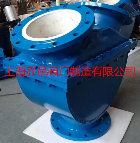 球型陶瓷矿浆三通换向止回阀/浆液自动切换阀/泰勒阀在浆体泵上的应用图片