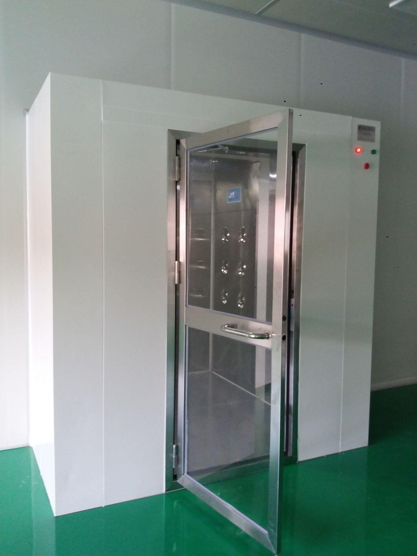 双门的互锁状态,风淋周期进度和延时开门状态.