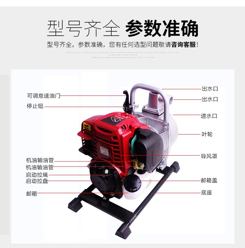 1寸汽油机水泵结构图