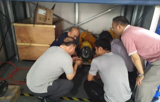 近日,韓國客戶考察秦平機械(上海)有限公司