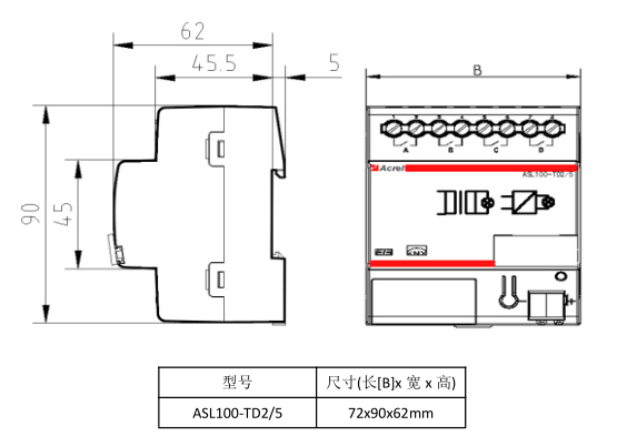 asl100-td2/5--安科瑞智能照明可控硅调光器asl100-td2/5